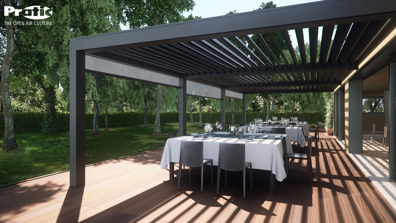Quali 39 stores pergolas bordeaux for Pergola aluminium design